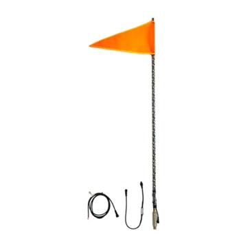 QUAKE LED Whip Light with Flag