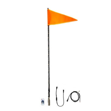 QUAKE LED Lumière Whip avec drapeau