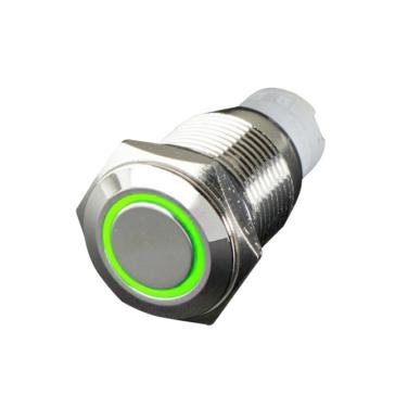 QUAKE LED Flush Mount Switch with LED Ring Push - 222705