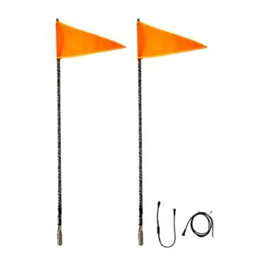 QUAKE LED Lumière Whip RVB avec drapeau