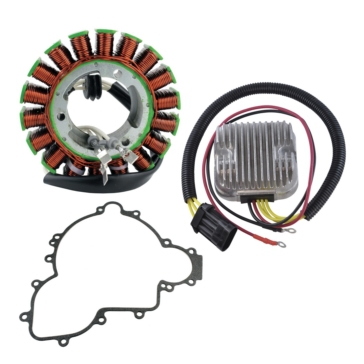 Kimpex HD Stator, Mosfet Voltage Regulator, Rectifier and Crankcase Cover Gasket Fits Polaris - 225375