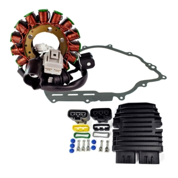 Kimpex HD Stator, Mosfet Voltage Regulator, Rectifier and Crankcase Cover Gasket Fits Yamaha - 225376