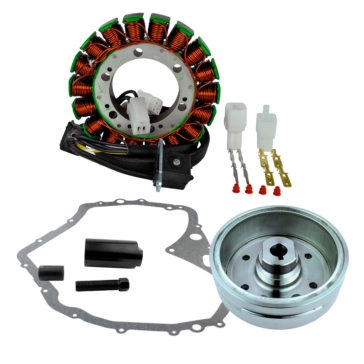 Kimpex HD Stator, Flywheel and Crankcase Cover Gasket Fits Arctic cat, Fits Suzuki - 225404