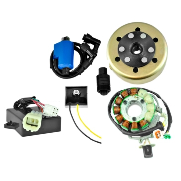 Kimpex HD Stator 200 W, CDI Box, Regulator, External Ignition Coil, Flywheel, Puller Yamaha - RM22844