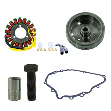 Kimpex HD Flywheel, Flywheel Puller, Gasket & Generator Stator Kit 225668