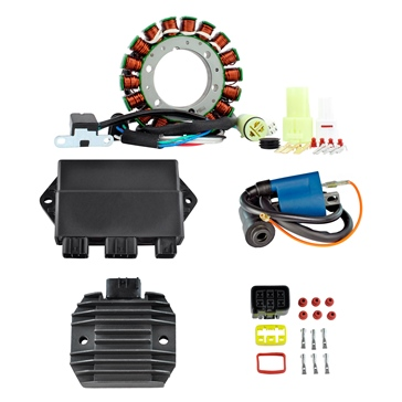 Kimpex HD Stator HP, Regulator, HP CDI Box & External Ignition Coil Kit Fits Yamaha - 225744