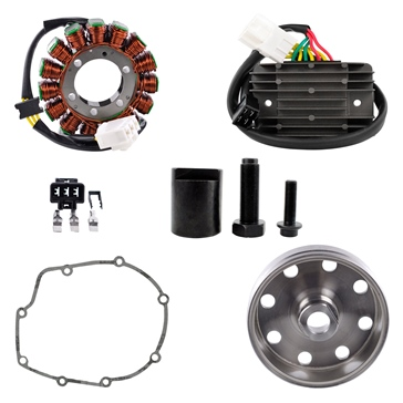 Kimpex HD Stator, Kokusan Flywheel,  Regulator, Gasket, Puller Recall Kit Aprilia - 225751