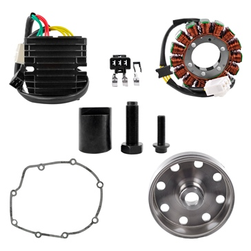 Kimpex HD Stator, Kokusan Flywheel, Mosfet Regulator, Gasket & Puller Recall Kit Fits Aprilia - 225752