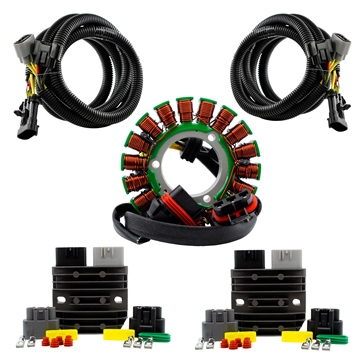 Kimpex HD Dual Output Stator, Series Regulators, Harnesses Kit Fits Polaris - 225818