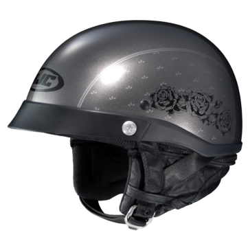 HJC CL-IRONROAD Half-Helmet Black Rose