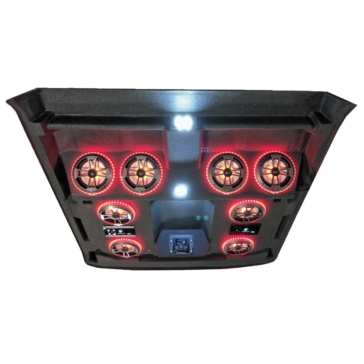 4 - 180 W AudioFormz Kawasaki Mule Pro-FXT Stereo Roof Top