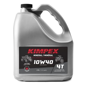 Huile à moteur Moto/VTT 4-M 10W40 KIMPEX 3.78 L