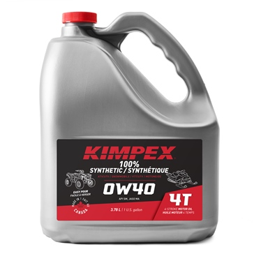 3.78 L KIMPEX 4-S100 0W40 Snowmobile/ATV Engine Oil