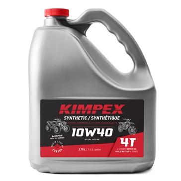 Kimpex Huile à moteur Moto/VTT 4-TEMPS 10W40 3.78 L / 0.79 G
