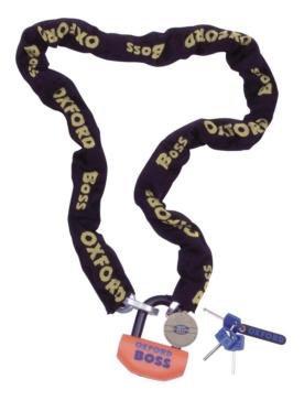 Serrure à chaîne Super Solide - Boss OXFORD PRODUCTS Chaîne - Noir - 2 m