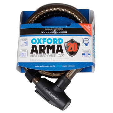 Oxford Products Câble antivol renforcé version scooter Arma 2.0