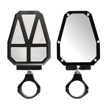 "Kimpex Aluminium Sideview Mirror 1.75"" Clamp-On"