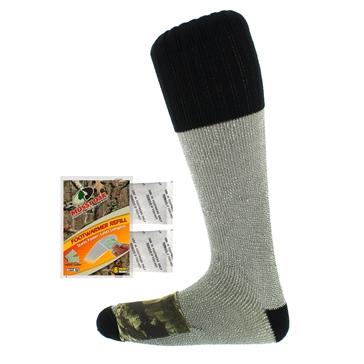 ThermaCELL Chaussettes chauffantes camouflage en acrylique Mossy Oak® (deux paires) Homme, Femme