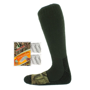 Heat Factory USA Mossy Oak Mid-Calf Wool Sock Men