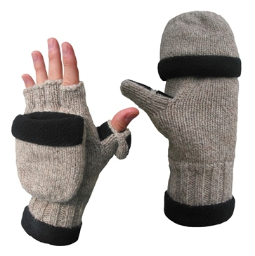 Heat Factory USA Ragg Wool Heated Pop Top Gloves Men, Women