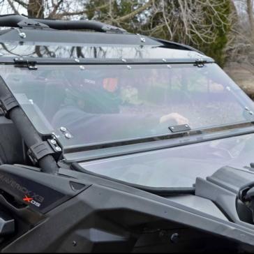 SUPER ATV Pare-brise pliable résistant aux éraflures Avant - N/A - Polycarbonate