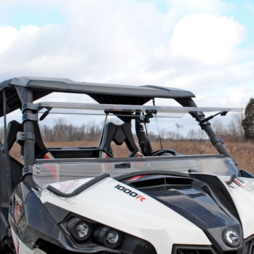 SUPER ATV Scratch Resistant Flip Windshield Front - Can-am - Polycarbonate