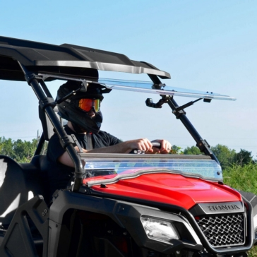 SUPER ATV Scratch Resistant Flip Windshield Front - Honda - Polycarbonate