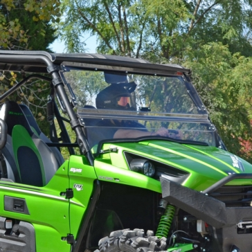 Super ATV Flip windshield Kawasaki