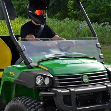 Super ATV Demi pare-brise Avant - John Deere - Polycarbonate Makrolon® AR