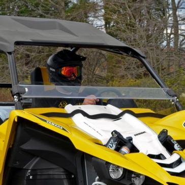 SUPER ATV Demi pare-brise Avant - Yamaha - Polycarbonate Makrolon® AR