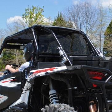 SUPER ATV Pare-brise arrière Arrière - Polaris - Polycarbonate Makrolon® AR