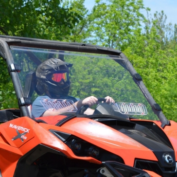 SUPER ATV Scratch Resistant Vented Full Windshield Front - Can-am - Polycarbonate