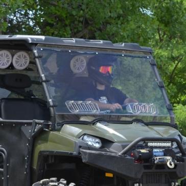 Super ATV Full Windshield - Vented Fits Polaris