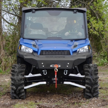 Super ATV Bumper Front - Steel - Fits Polaris