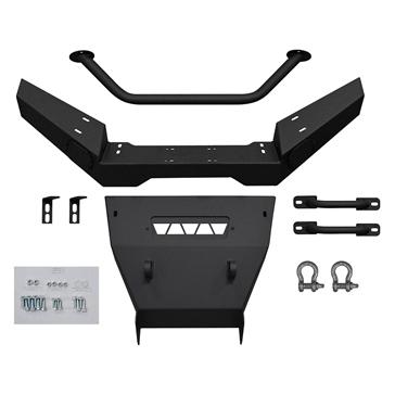 Super ATV Pare-chocs - Prêt pour treuil Avant - Acier, Texturé en diamant - Kawasaki
