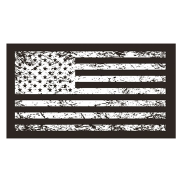 Dragon Fire Racing Double Side Flag USA Tattered
