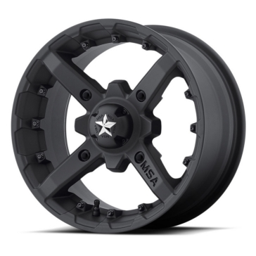MSA WHEELS M23 Battle Matte Black Wheel