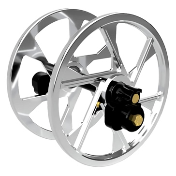 ITEK Anodized Big Wheels kit Aluminium - Fits Ski-doo