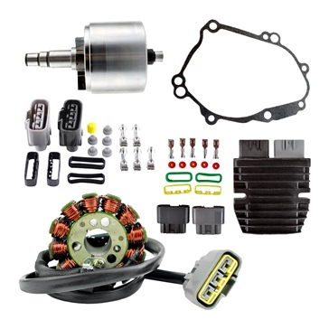Kimpex HD Lithium-Ion Charging System Conversion, Flywheel and Gasket Fits Yamaha - 345099