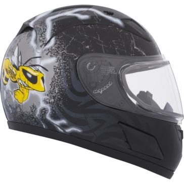 Mad Bee CKX RR601Y Full-Face Helmet, Winter - Youth