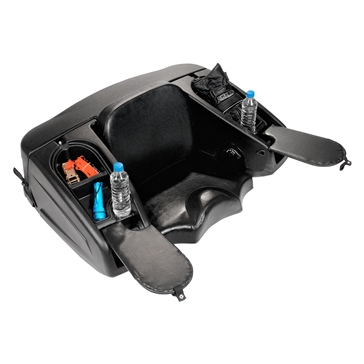 Kimpex Techno Plus Trunk with Heated Grips Rear