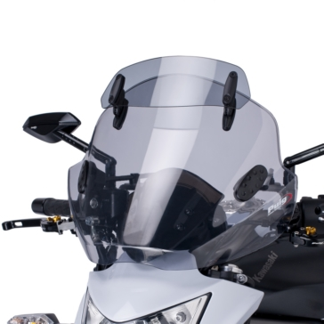 Front PUIG Stream Windshield with Deflector