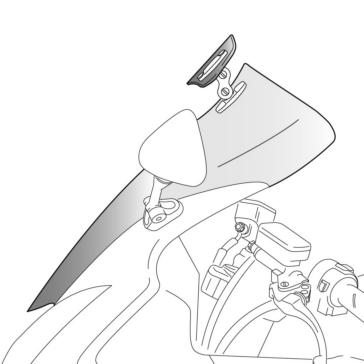 PUIG Touring Windshield Front - Kawasaki - High Impact Acrylic