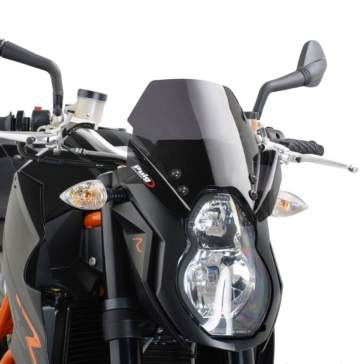 PUIG Naked Windshield Front - KTM - High Impact Acrylic