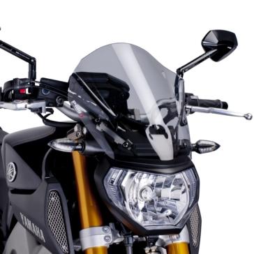 PUIG Naked Windshield Front - Yamaha - High Impact Acrylic