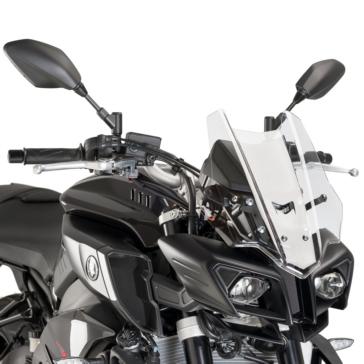 PUIG Racing Windshield Front - Yamaha - High Impact Acrylic