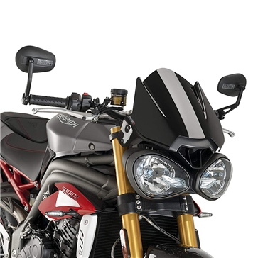 PUIG Naked Windshield Front - Triumph - High Impact Acrylic