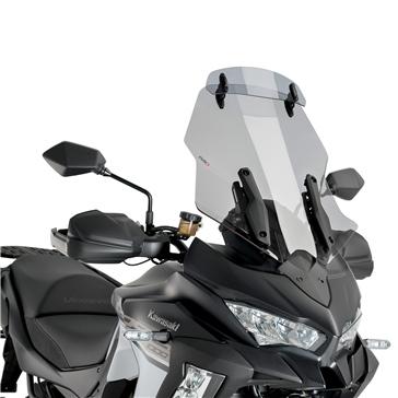 Puig Touring Windshield with Visor Fits Kawasaki