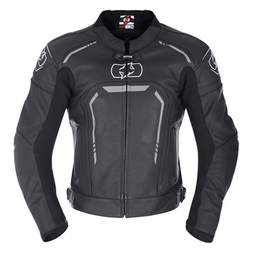 Oxford Products Strada Men's Leather Sports Jacket Stealth Black
