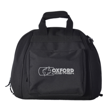 Oxford Products Lidstash Deluxe, Padded Helmet Carrier with Accessories Pouch Bag